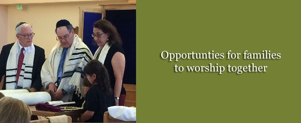 Opportunties for families to worship together